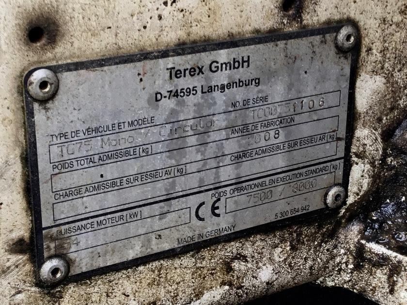 2008 Terex TC75 Mono/Circular